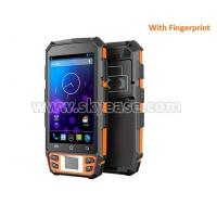 Buy cheap 5inch rugged handheld pda tablet NFC barcode scanner fingerprint with buttons from wholesalers