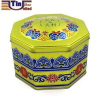 Buy cheap Irregular Tin Boxes Big Octagonal Shape Food Canned Embossing Lid and Bottom Tin Box from wholesalers