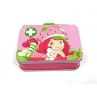 Tin Lunch Box Small Rectangular Customize Brand Name Lunch Tin Box with Handle and Lock
