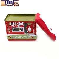 Buy cheap Tin Lunch Box House Shape Money Saving Tin Coin Box with lock and key product