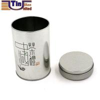 Buy cheap Metallic Effect Round Double Layers Lid Canned Chinese Tea Tin Box from wholesalers