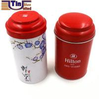 Buy cheap Middle Round Tea Coffee Tin Box with A Stretching Lid from wholesalers