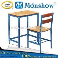 China Square Tube Single School Desk And Chair on sale