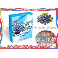 Buy cheap Round Sugar Free Low Calorie Candy With Blue Berry Flavor Paper Box from wholesalers