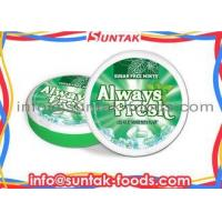 Buy cheap Round Box Sugar Free Mint Candy For Diabetics , Low Calorie Hard Candy Long Lasting Cooling from wholesalers