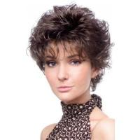 Buy cheap Short Curly Classic Style Human Hair Capless Wig from wholesalers