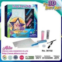 Buy cheap custom Glitter Tattoo body Art body painting with glimmer powder and stencil paper for girl from wholesalers