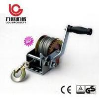 Buy cheap Hand cable winch 1200 LBS 2600LBS Portable hand anchor winch with hand brake from wholesalers
