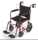 Buy cheap ALUMINUM TRANSPORT CHAIR, WHEELS - 12 REAR - 8 FRONT, RED (SKU: ML-MDS808210ARE) from wholesalers