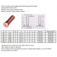 Buy cheap Short Cycle Drawn ARC Welding Studs from wholesalers
