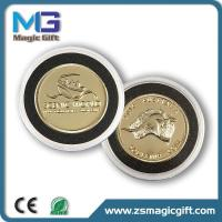 Promotion 3D metal gold coin with plastic box