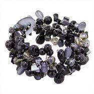 Buy cheap Black Mother of Pearl and Beads Medley Bracelet from wholesalers