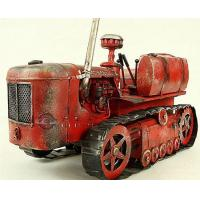 Buy cheap Tin Truck Vintage Medium Scale Handmade Red Tinplate Tractor Model from wholesalers
