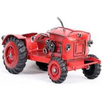 Buy cheap Tin Truck Handmade Red Medium Scale Tinplate Vintage Tractor Model from wholesalers