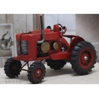 Buy cheap Tin Truck Vintage Red Medium Scale Handmade Tinplate Tractor Model from wholesalers