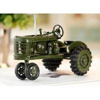 Buy cheap Tin Truck Handmade Small Scale Tinplate Green / Red Vintage Tractor Model from wholesalers