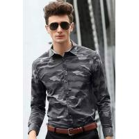 Buy cheap Men's Shirts Grey Camouflage Long Sleeve Shirt from wholesalers