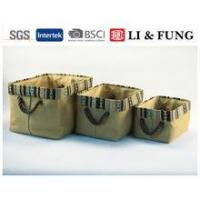 Buy cheap S/3 rectangle burlap storage bin &basket from wholesalers