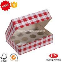 Buy cheap Cookie Box Cheap cupcake food box with clear window from wholesalers