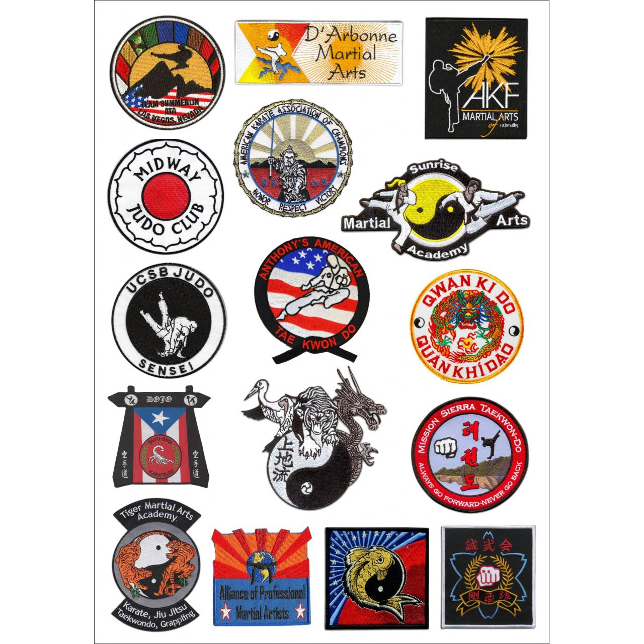 Buy cheap Flat embroidery labels & patches PSB027-Martial arts from wholesalers