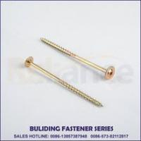 Buy cheap Yellow Zinc Trox Gloove Modify Wafer Head Chipboard Screw Particle Board Screw from wholesalers