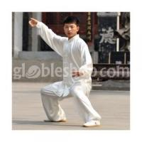 Buy cheap High Quality Taichi Uniform Satin White Martial Arts Clothes Men/Women from wholesalers