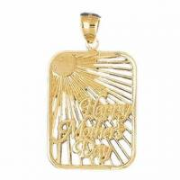 Buy cheap 14K Yellow Gold Happy Mothers Day Pendant from wholesalers