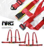 Buy cheap Accessories 2X Red 4 Point Racing Seat Belts Harness from wholesalers