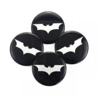 Buy cheap BATMAN WHEEL CENTER CAP EMBLEMS ALUMINUM STICKERS DECAL SLIGHTLY CONED SILVER 50MM #4682 from wholesalers