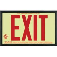 Buy cheap Photoluminescent Exit Signs Thermoplastic Frame Photoluminscent from wholesalers