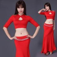 Buy cheap Latest Adult Belly Dance Practice Dress Costume,Modal Cotton Belly Dance Wear from wholesalers
