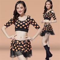 Buy cheap Popular Printed Design Belly Dance Practice Set with Top&Skirt,Belly Dance Wear from wholesalers