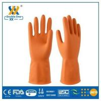 Buy cheap duable double color latex industrial gloves with good quality from wholesalers