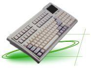 Buy cheap POS QWERTY KB with touch pad from wholesalers