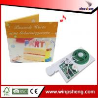Buy cheap Handmade Card Custom 30 Seconds Greeting Card Sound Module from wholesalers
