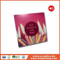 Buy cheap Handmade Card Personalised Message Voice Reccording Greeting Cards from wholesalers