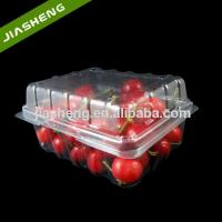 Buy cheap Disposable Large Plastic Fruit and Vegetable Packaging supermarket fruit tray packaging for cherry from wholesalers