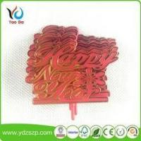 Buy cheap Cake Topper Gold printing Happy birthday cake decoartion from wholesalers
