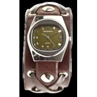 Buy cheap Chocolate X-Strap Watch with Vintage Olive Dial from wholesalers
