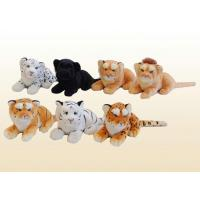 Buy cheap 30cm lying jungle animals Soft-head Tiger, Leopard and Lion Series from wholesalers