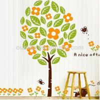 Fashion tree wall decor stickers wholeslale