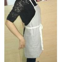 Buy cheap Apron 100% pure linen cafe shop apron in natural color with drawstring ties from wholesalers