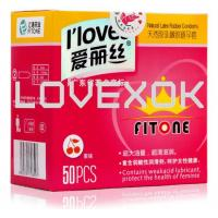 Buy cheap I loves Sex 50 pcs / lot Men Ultra-thin Condoms Natural Latex Adult Product Sealed from wholesalers