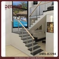 Buy cheap modern house steel wood stair handrail designs used guardrail for sale from wholesalers