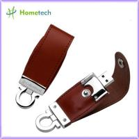 Buy cheap Brown / Black Customized Leather Usb Flash Drives from wholesalers