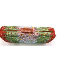 Buy cheap Dazzling Evening Bag Crystal Hard Case Clutch Handbag Purse for Women with Detachable Chain from wholesalers