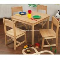 Buy cheap Children's Simple Wooden Farmhouse Table & 4 Chairs from wholesalers