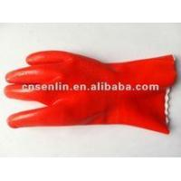 Buy cheap Cotton glove Red PVC Safety Glove from wholesalers