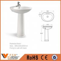 Buy cheap Sanitary ceramic pedestal basin wash basin sink from wholesalers