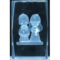 Buy cheap 3 3D Laser Crystal Cube - Puppy Love from wholesalers